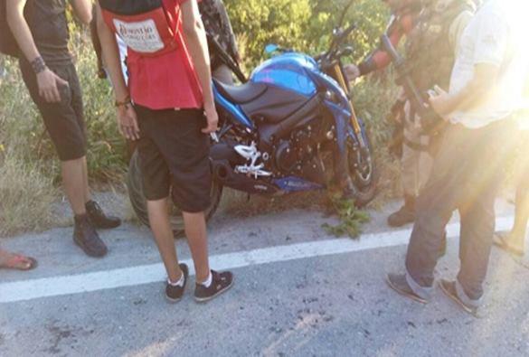 RIO DE CONTAS: Mulher fica ferida em acidente de moto de alta cilindrada na Serra das Almas