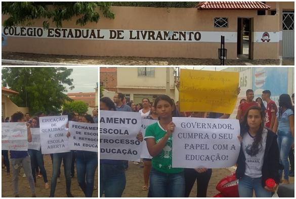 Professores e alunos lamentam possível encerramento de atividades do Colégio Estadual de Livramento, o antigo Boaventura