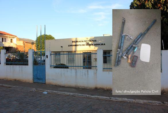 Livramento: Polícia Civil descobre grades danificadas e impede fuga