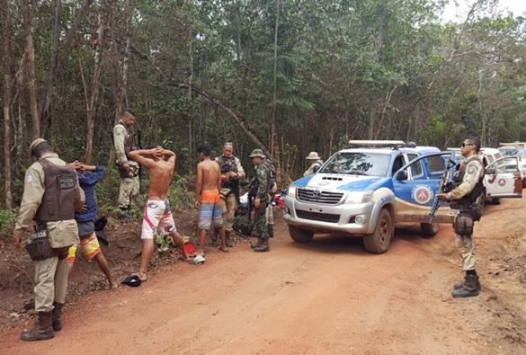 Ibicoara: Polícia frustra tentativa de ocupação irregular no Parque da Cachoeira do Buracão