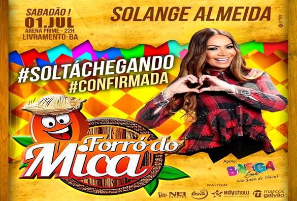 Forró do Mica: Solange Almeida é confirmada como 1ª atração