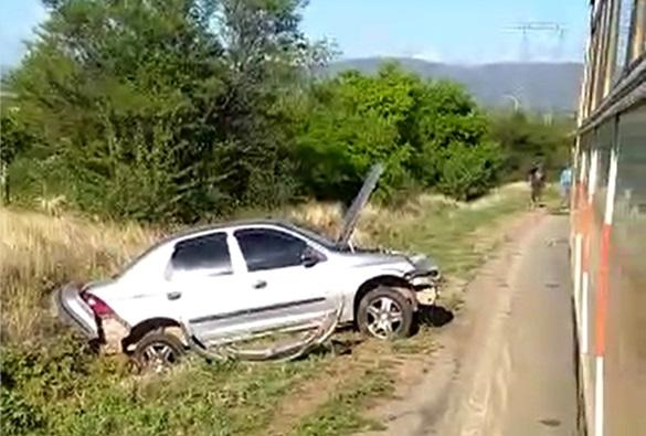 Livramento: Quatro pessoas tiveram ferimentos leves após sofrerem um acidente na rodovia BA-152