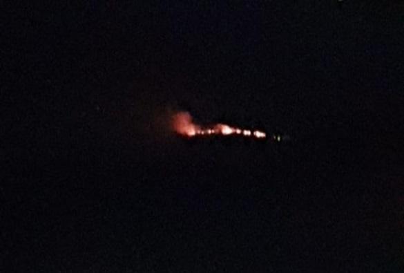 Incêndio atinge vegetação na Serra das Almas em Rio de Contas