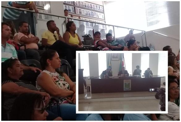 Professores do município comparecem na Câmara de Vereadores de Livramento para assistir sessão que discutiu precatórios para educação