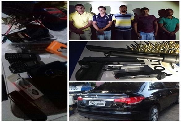 Polícia Militar prende quadrilha de assaltantes de cargas em Oliveira dos Brejinhos