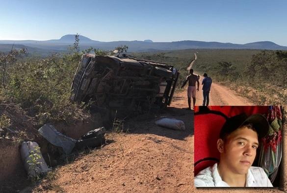 Motorista perde a vida após caminhonete capotar na região de Ituaçu