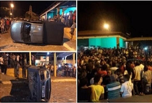 Piatã: Bingo termina em confusão e carro virado em Inúbia