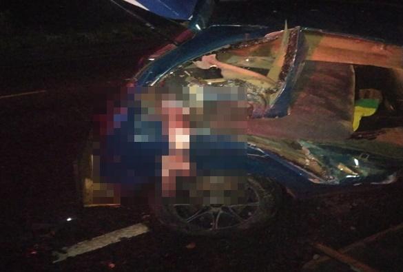 Grave acidente deixa um morto e dois feridos em Dom Basílio
