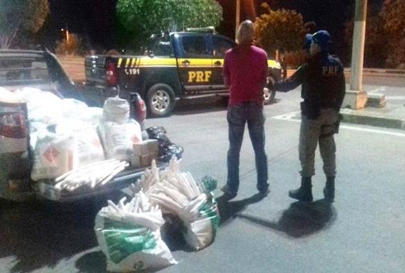 Quase uma tonelada de explosivos destinada a garimpeiros é apreendida na Chapada