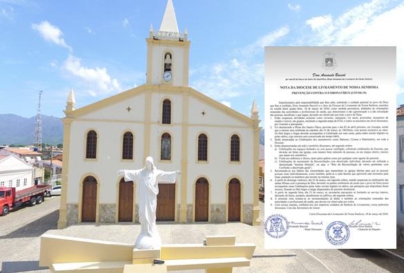 Coronavírus: Diocese de Livramento emite nota sobre novas normas a serem tomadas pela igreja católica