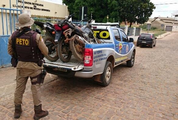Marcolino Moura: PETO apreende três motocicletas em situação irregular