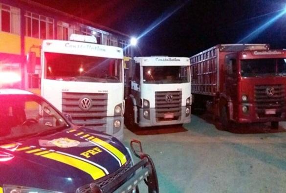 Chapada: Mais dois caminhões roubados foram recuperados pela PRF na região de Seabra