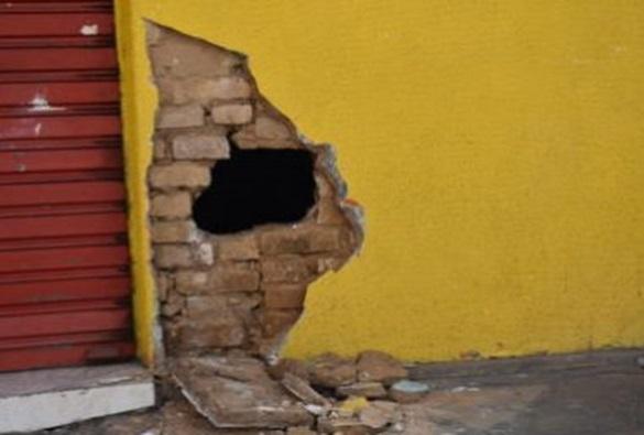 Conquista: Lotérica é furtada em quase R$ 100 mil; local amanheceu com buraco na parede