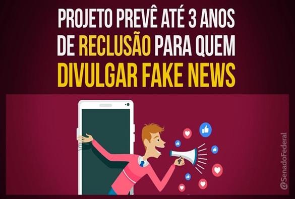 Divulgação de 'fake news' pode passar a ser punida com até três anos de reclusão