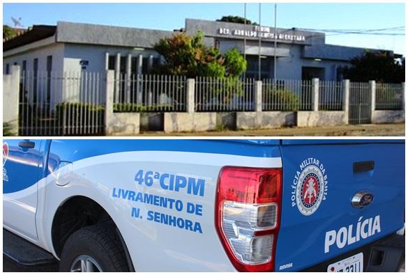 Homem quebra porta de fórum em Paramirim e é preso
