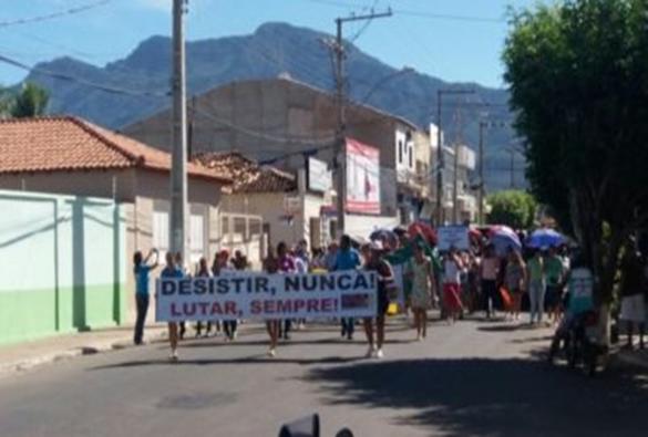Livramento: Manifestantes vão às ruas contra a reforma da Previdência