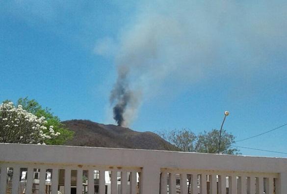 Incêndio atinge serra de Ibiajara em Rio do Pires