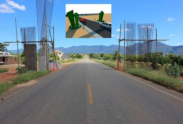 Falhas na construção de portais nas entradas de Livramento paralisam obras