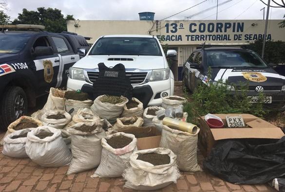 Homem é preso com mais de 160 kg de maconha na Chapada Diamantina, na Bahia
