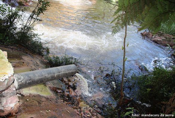 Dejetos lançados rio abaixo. Qual será a solução?