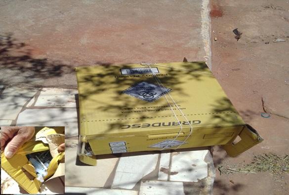 Livramento: Caixa com material hospitalar utilizado é encontrada em plena via pública