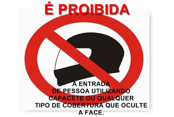 Coronel promulga lei que proíbe capacetes em estabelecimentos públicos e privados