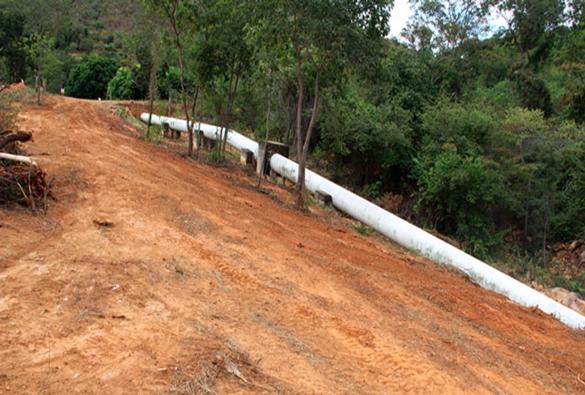 Desmatamento põe em risco adutora do Perímetro Irrigado